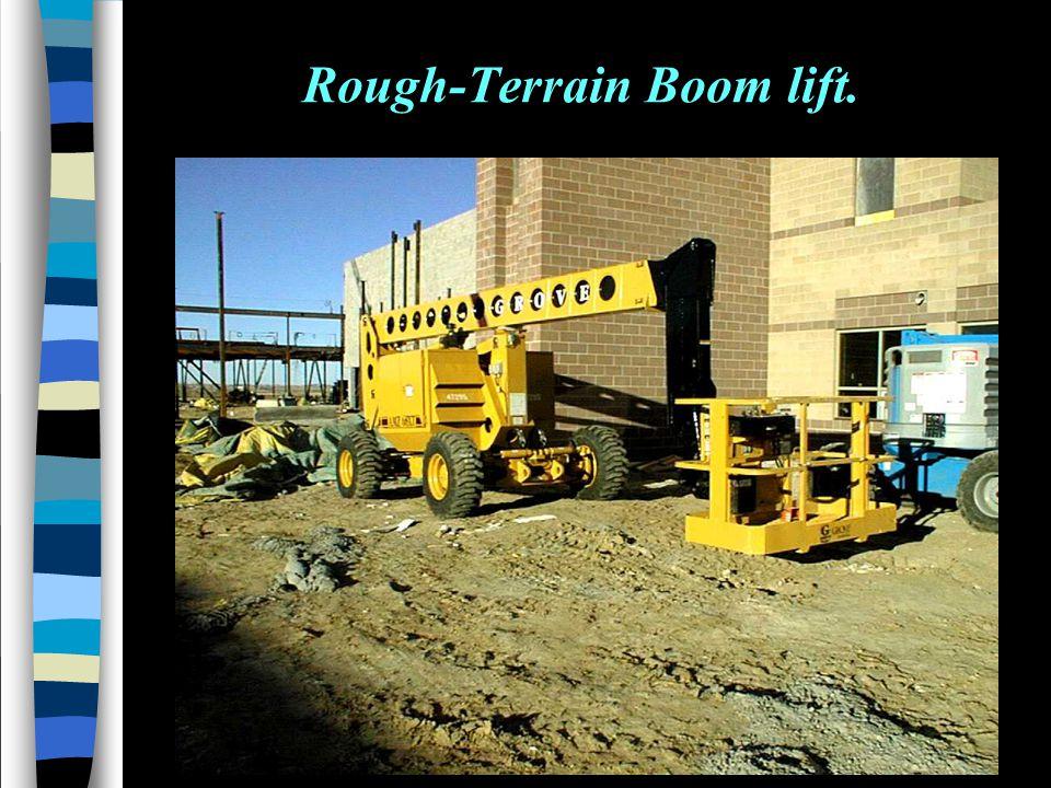 Rough-Terrain Boom lift.