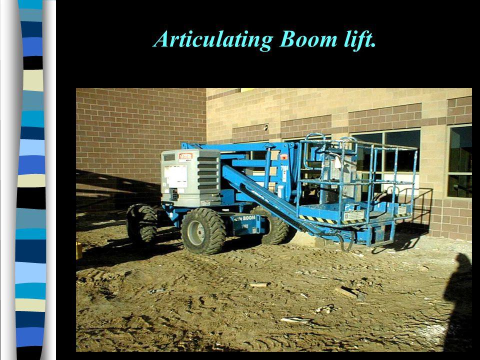 Articulating Boom lift.