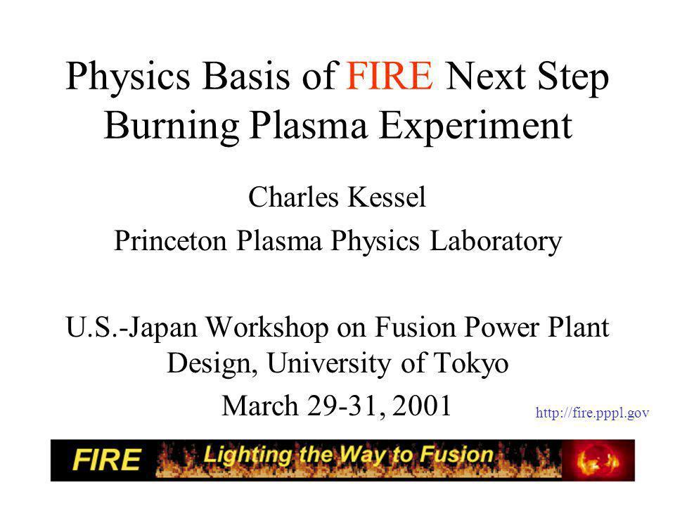 TSC Simulation of FIRE Burning AT Discharge Ip=5 MA, Bt=8.5 T, N=3.0, li(3)=0.4, n/nGr=0.7, H(y,2)=1.15, PLH=20 MW, PICRF=18 MW, n(0)/ =1.45