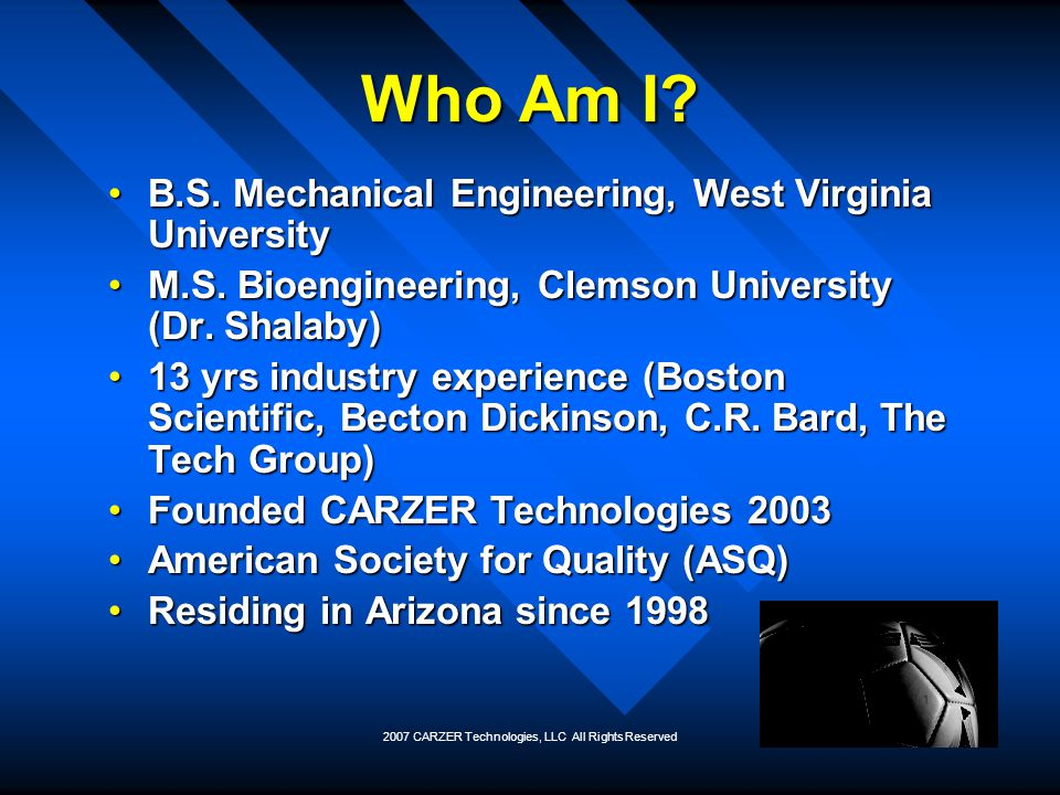 2007 CARZER Technologies, LLC All Rights Reserved Who is CARZER.