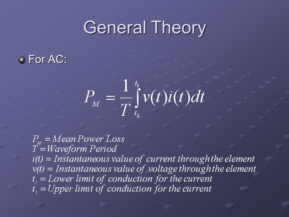 General Theory For AC: