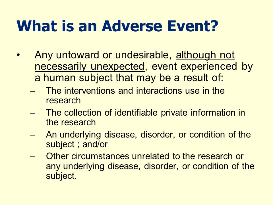 What is a Serious Adverse Event.