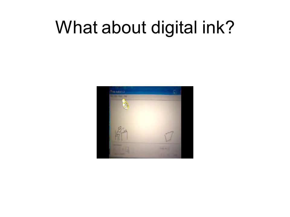 What about digital ink?