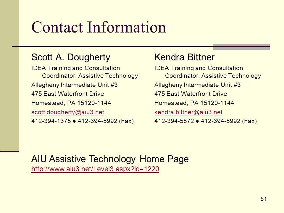 81 Contact Information Scott A.