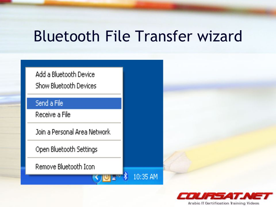 Bluetooth File Transfer wizard