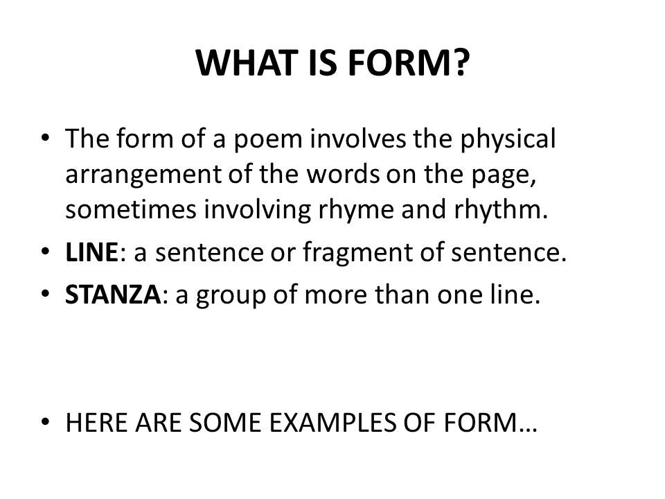 WHAT IS FORM.