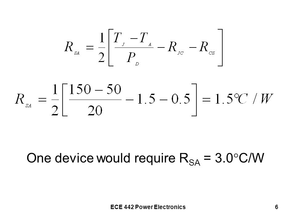 ECE 442 Power Electronics7 Check the Junction Temperature Device #1