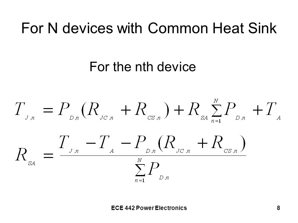 ECE 442 Power Electronics9 For n Identical Devices