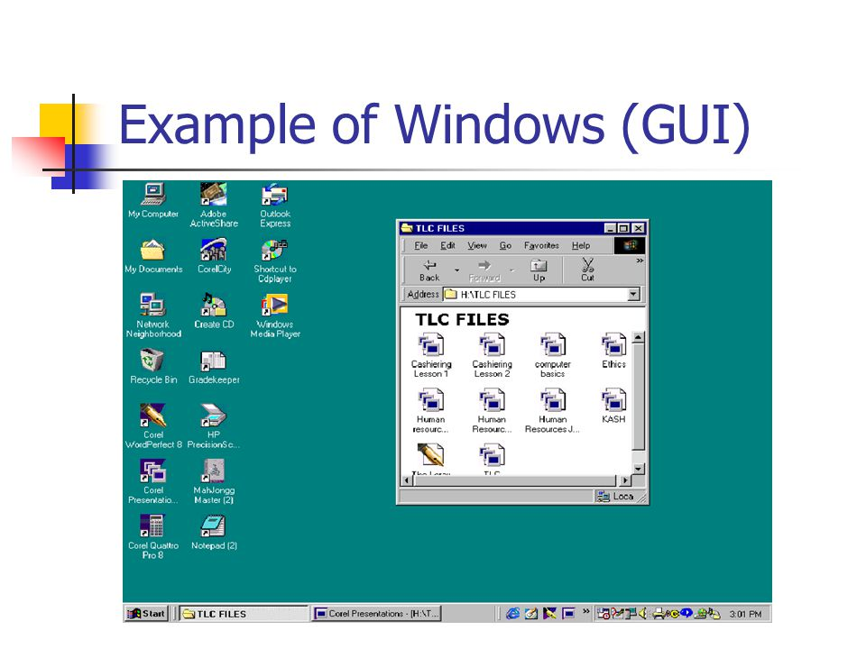 Example of Windows (GUI)