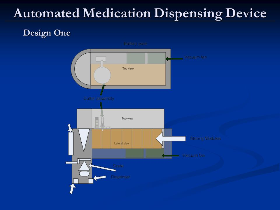 Automated Medication Dispensing Device Design One