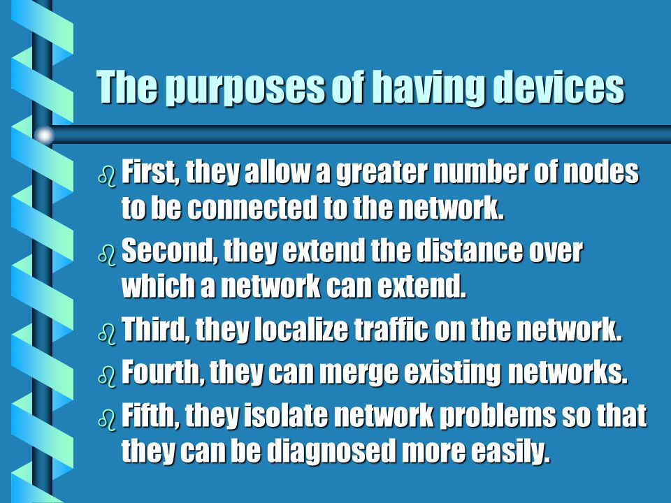 What are internetworking devices? b Internetworking devices are products used to connect networks. As computer networks grow in size and complexity, s
