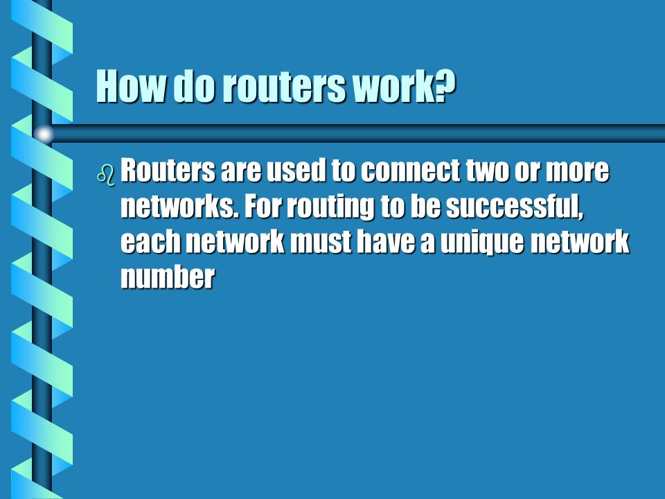 How do routers differ from bridges? b Routers differ from bridges in several respects. First, bridging occurs at the data link layer or layer 2,while