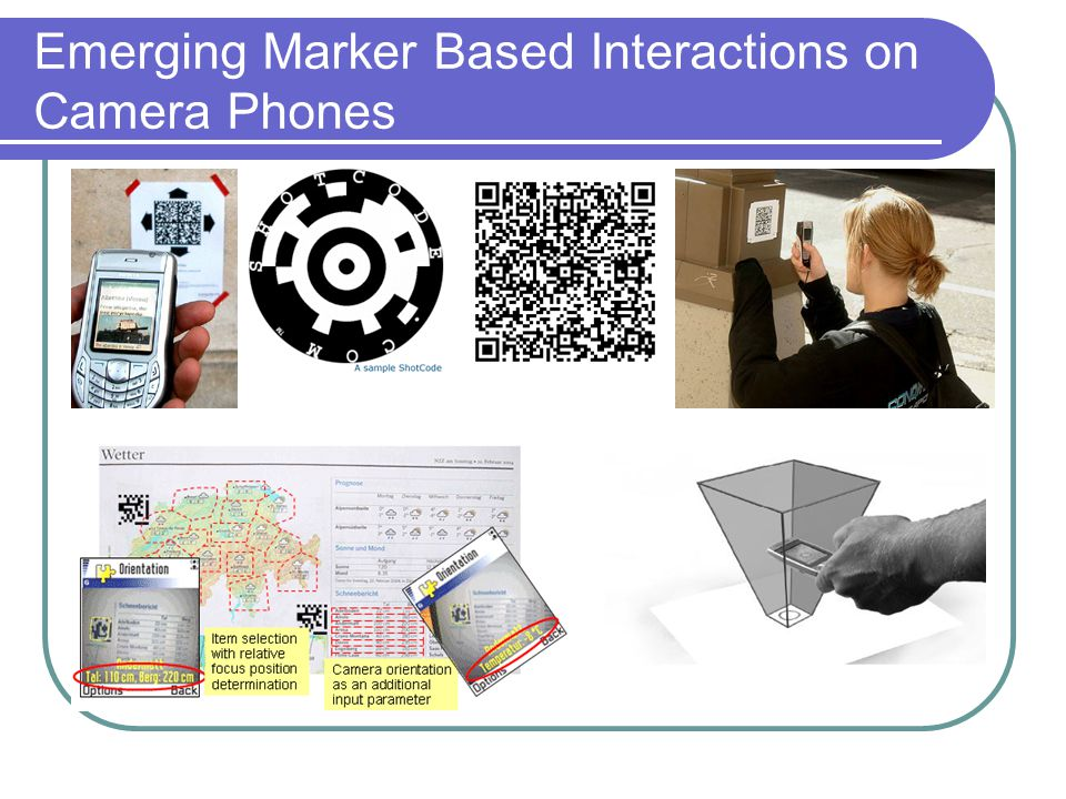Emerging Marker Based Interactions on Camera Phones