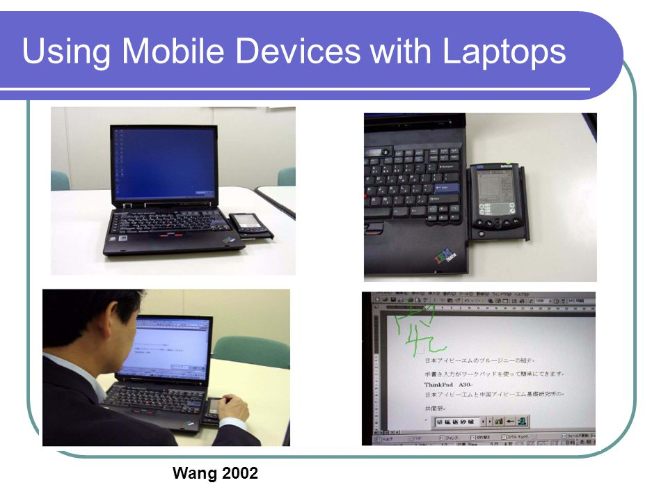 Using Mobile Devices with Laptops Wang 2002