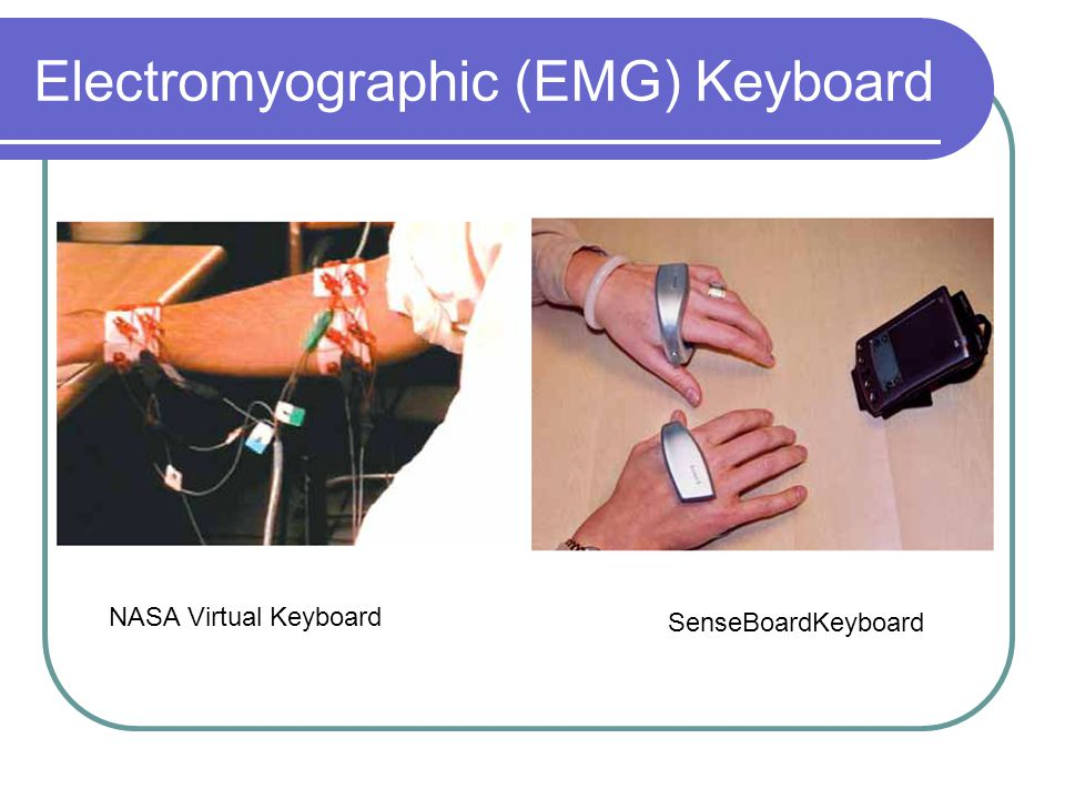 Electromyographic (EMG) Keyboard NASA Virtual Keyboard SenseBoardKeyboard