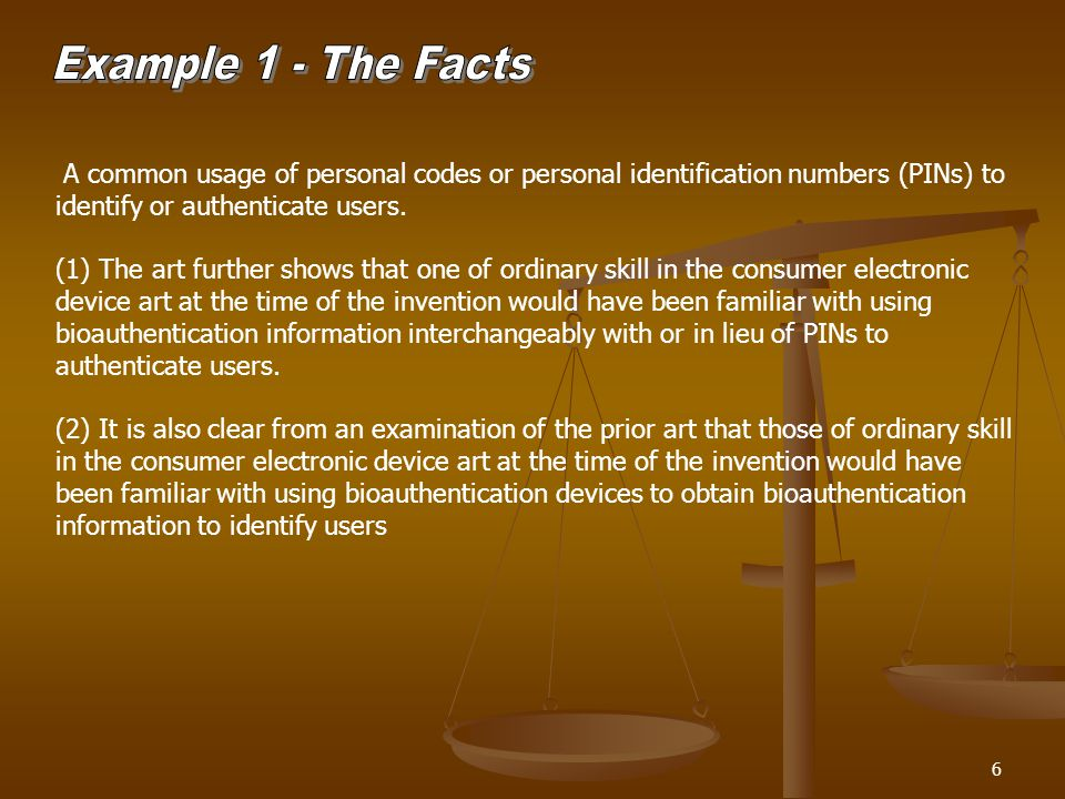 6 A common usage of personal codes or personal identification numbers (PINs) to identify or authenticate users.