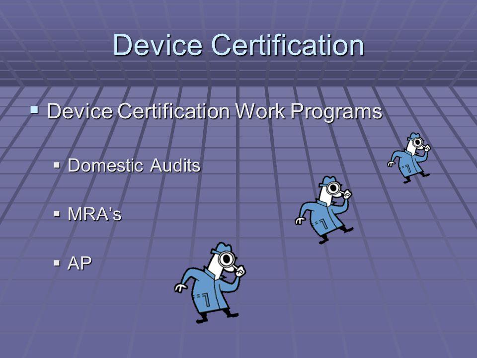 Certified Device Investigators = 55 Certified Device Investigators = 55 Total certified since implementation Total certified since implementation 130