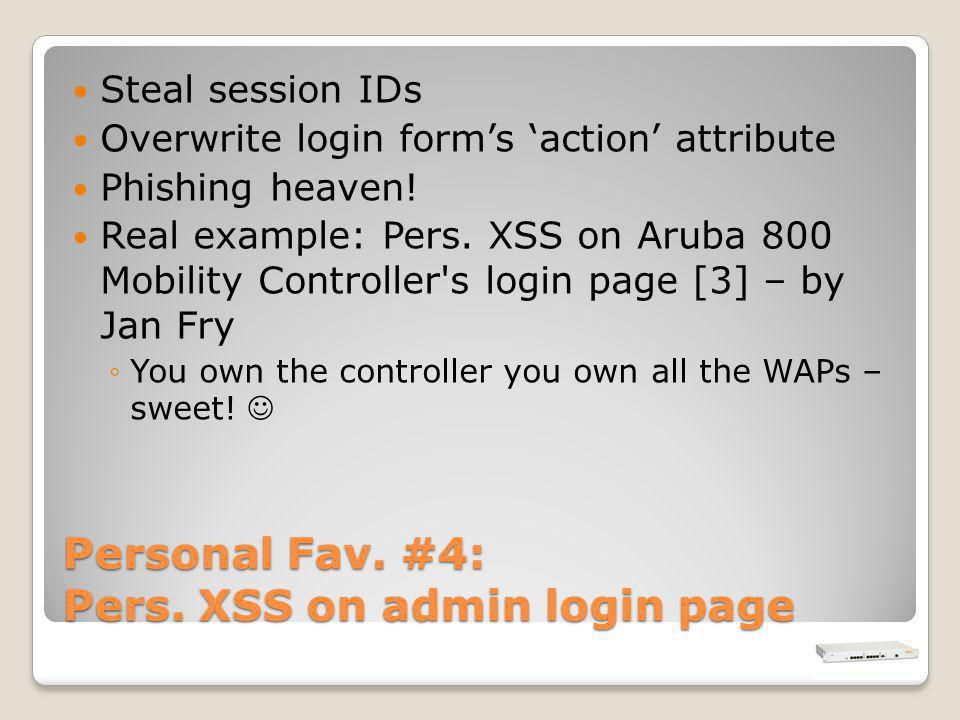 Personal Fav. #4: Pers.