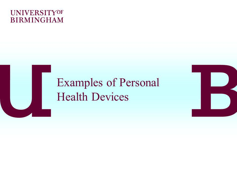 Examples of Personal Health Devices