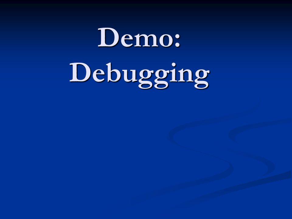 Demo: Debugging