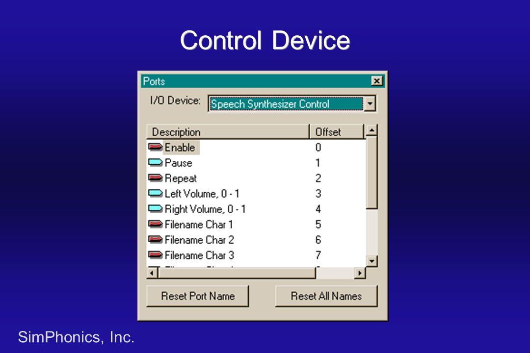 SimPhonics, Inc. Control Device