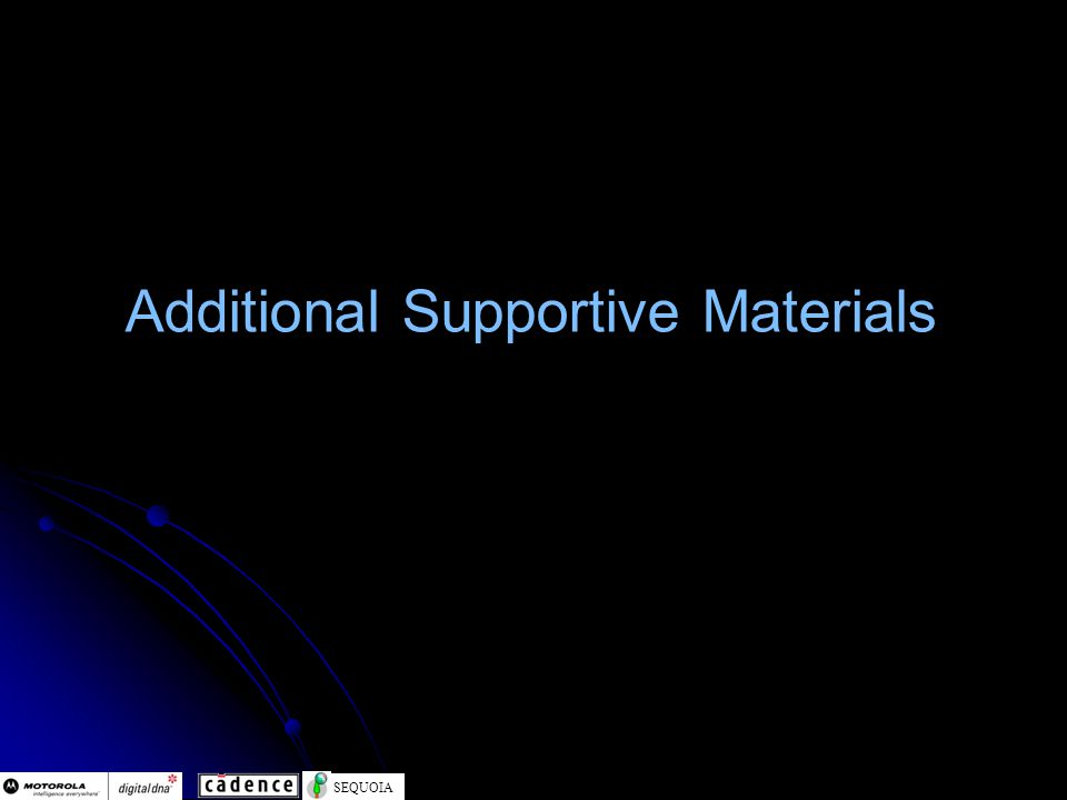 SEQUOIA Additional Supportive Materials