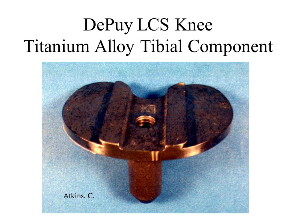 DePuy LCS Knee Titanium Alloy Tibial Component