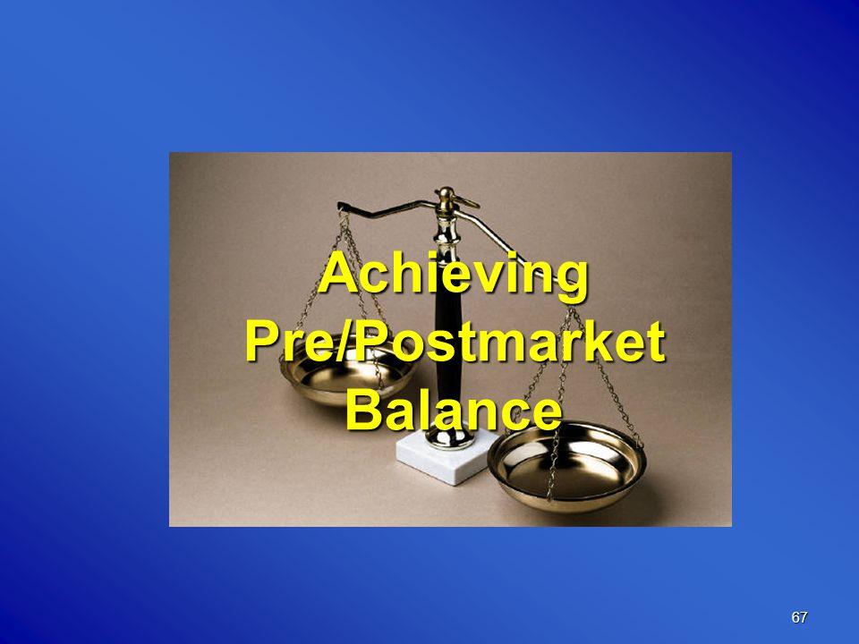 67 Achieving Pre/Postmarket Balance