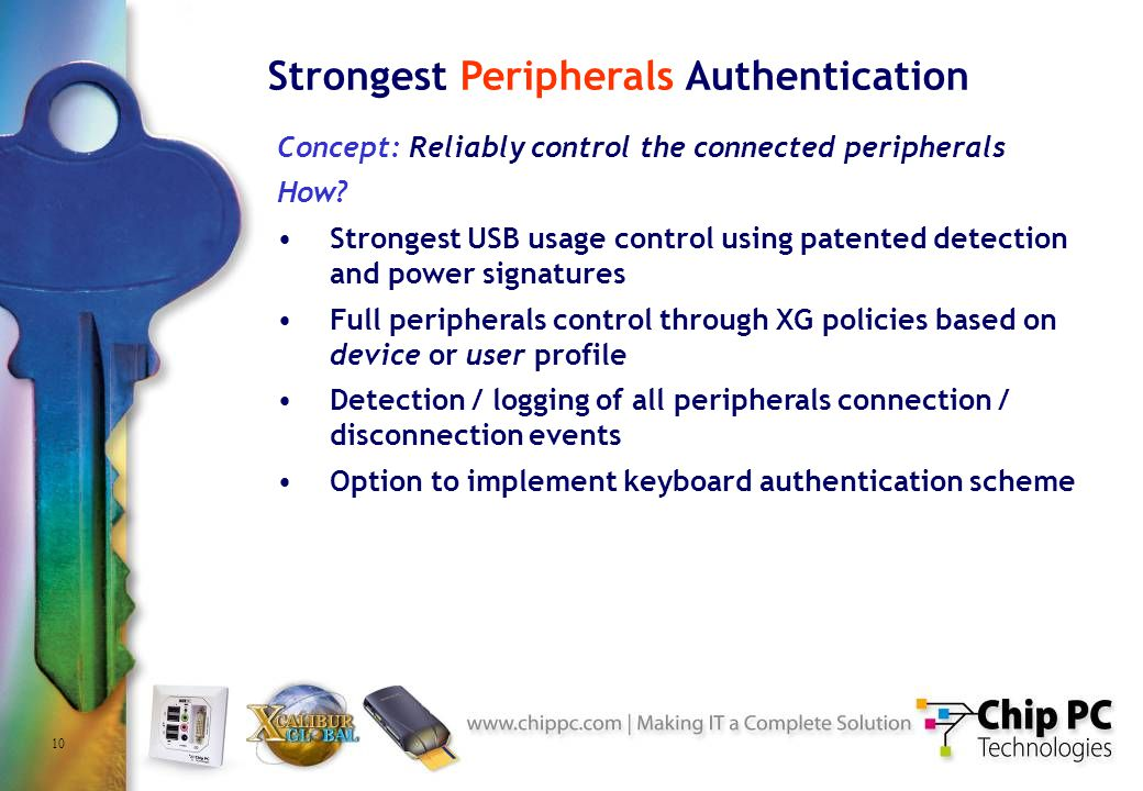 10 Strongest Peripherals Authentication Concept: Reliably control the connected peripherals How.