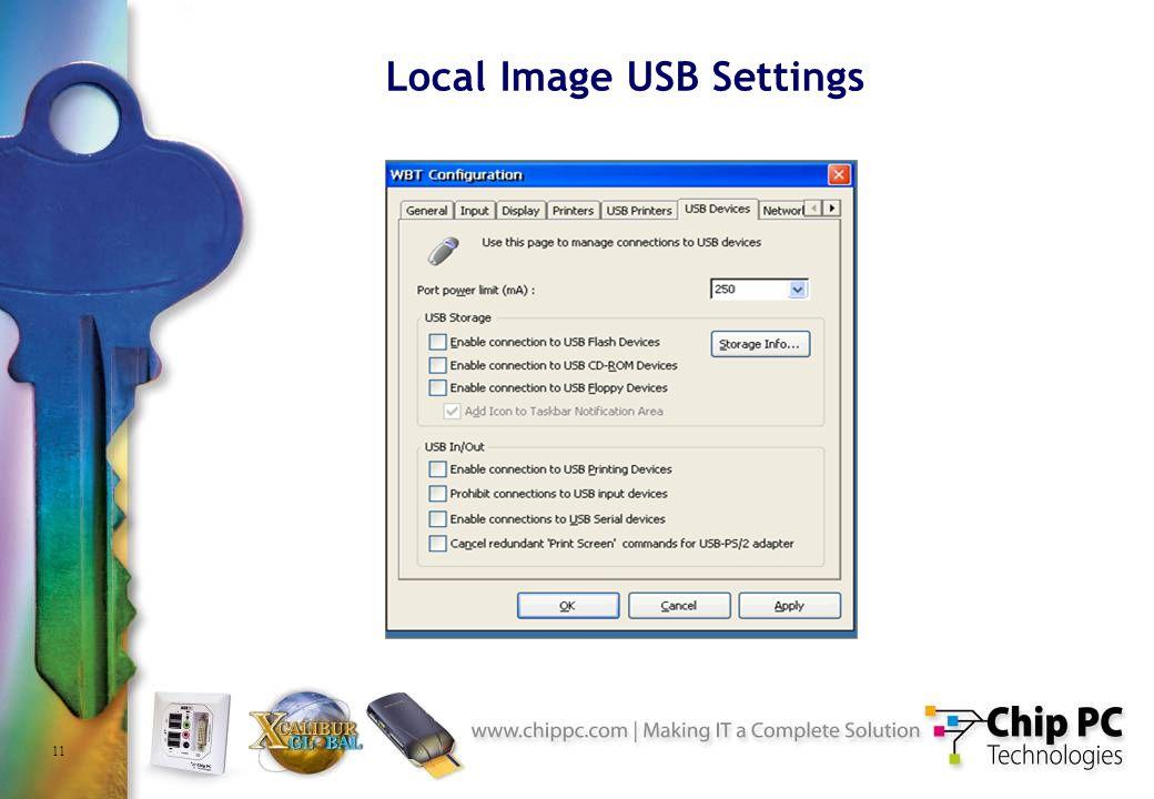 11 Local Image USB Settings