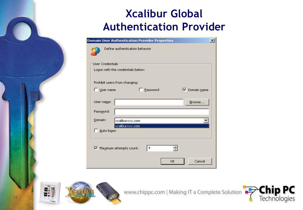 15 Xcalibur Global Authentication Provider