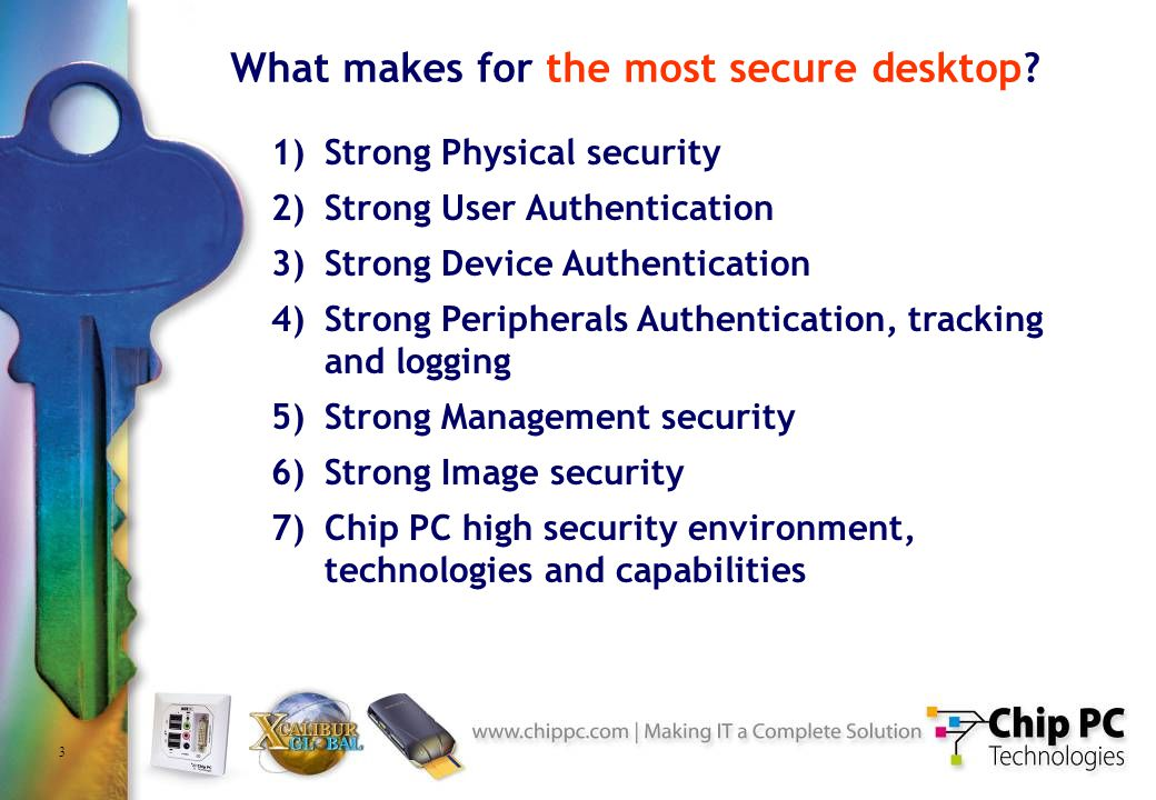 24 Chip PC Security Environment Operate as a subsidiary of Israels largest defense conglomerate All manufacturing is done in high-security MIL-STD facilities Common-Criteria to level 6 with similar products Access to MS and Citrix source-code Secured to top-secret development and production environments Contingency and disaster recovery facilities (3 sites) Worlds highest security organizations are relying on Chip PC products Internal security and procedures can be audited by customers