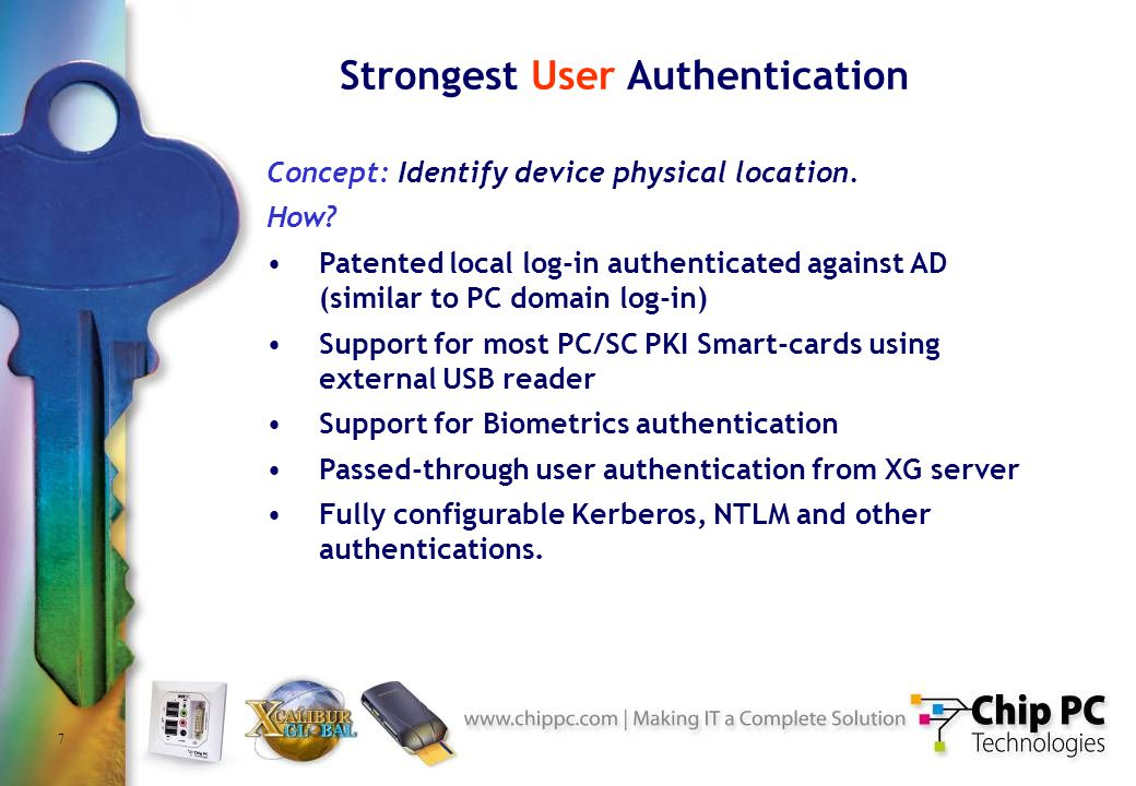 7 Strongest User Authentication Concept: Identify device physical location.