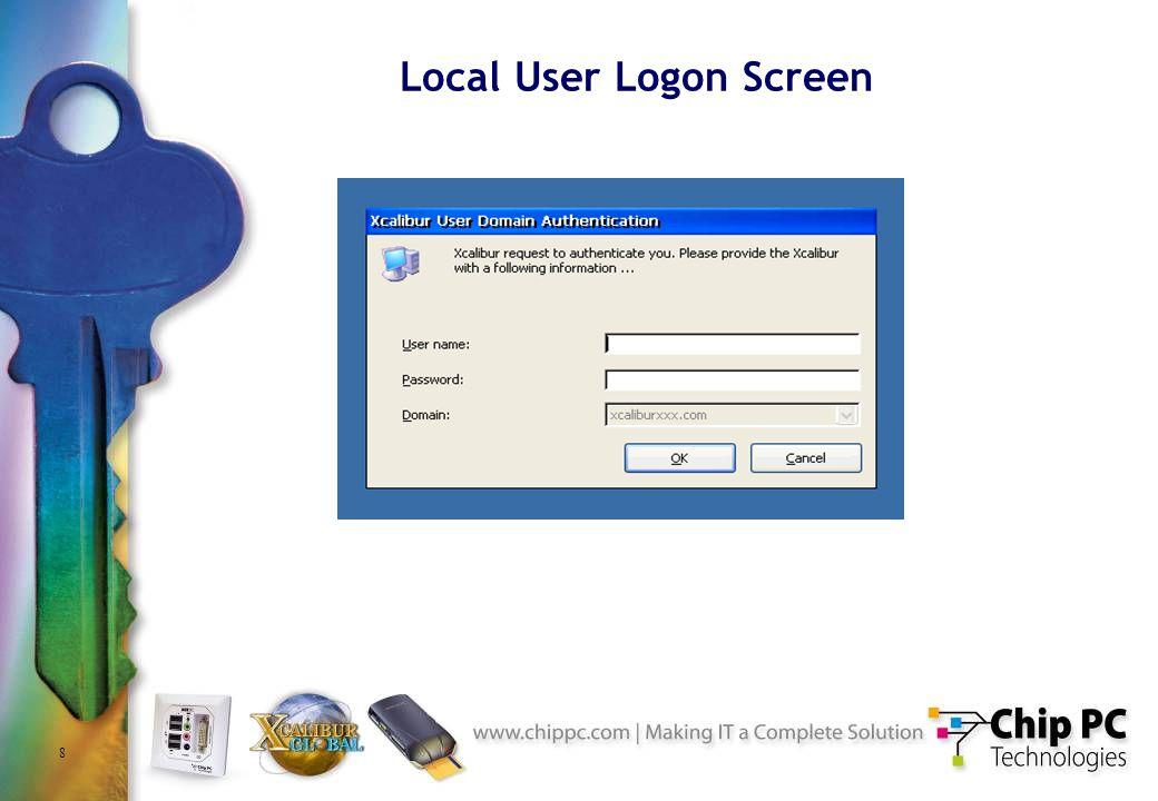 8 Local User Logon Screen