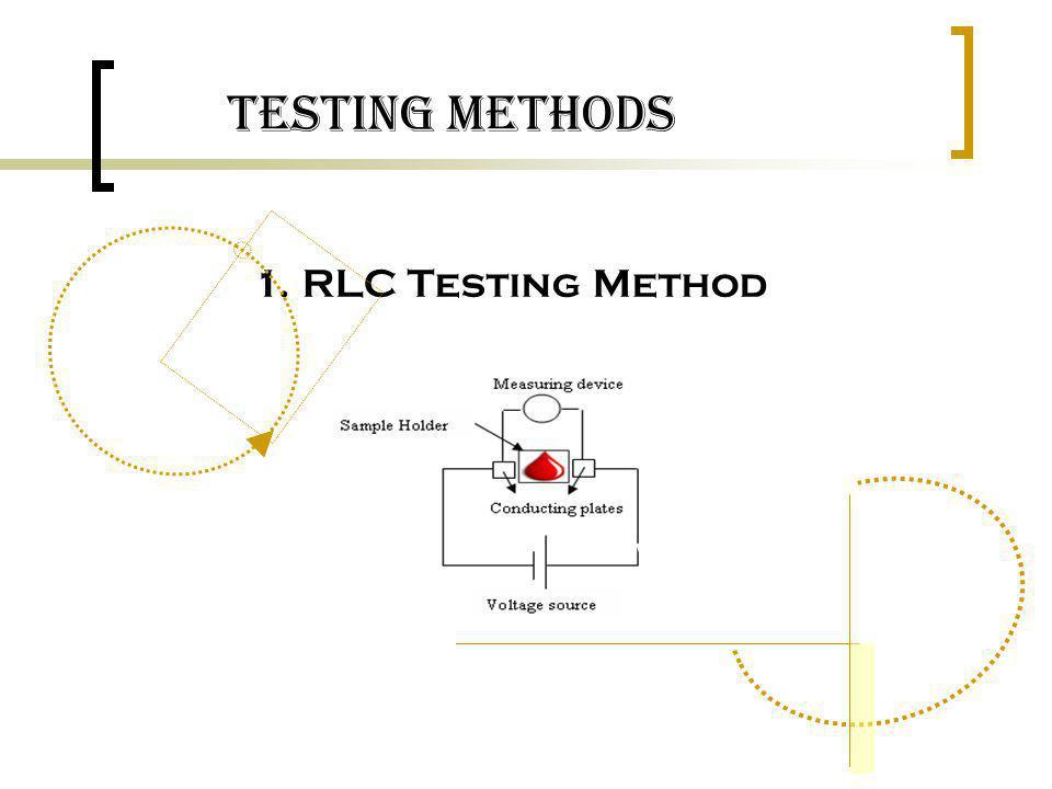 Testing Methods 1. RLC Testing Method