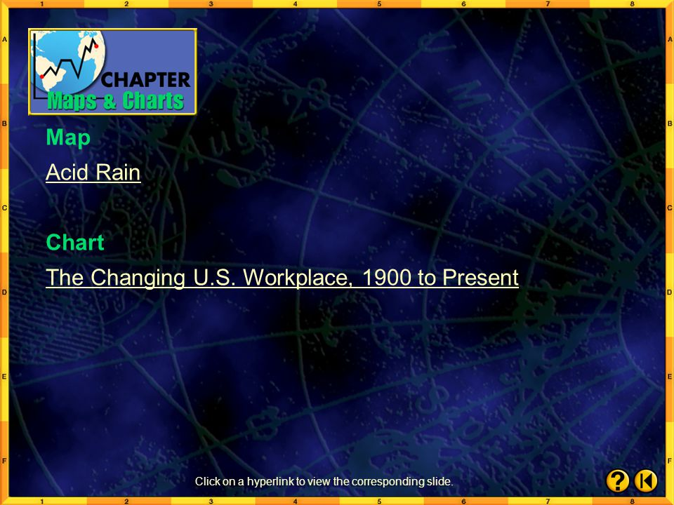 SkillBuilder 7 Click the mouse button or press the Space Bar to display possible answer. 6.Compare the climate map on page 172 of your textbook to the