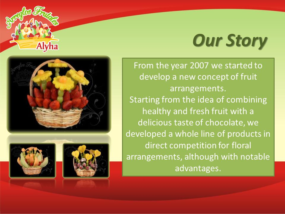 With the support of National Franchise Program Ministry of Economy ALYHA ® Fruit Arrangements has presence in major National and International Expos franchise from 2009 to date.