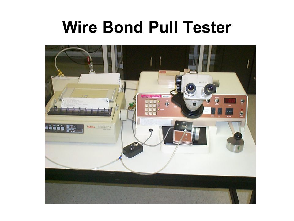 Wire Bond Pull Tester