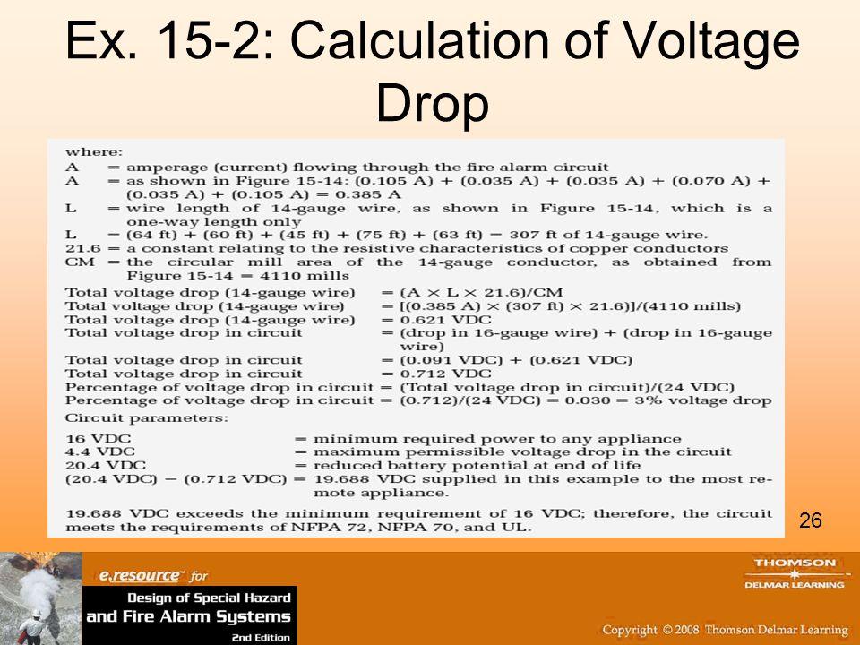 26 Ex. 15-2: Calculation of Voltage Drop 26