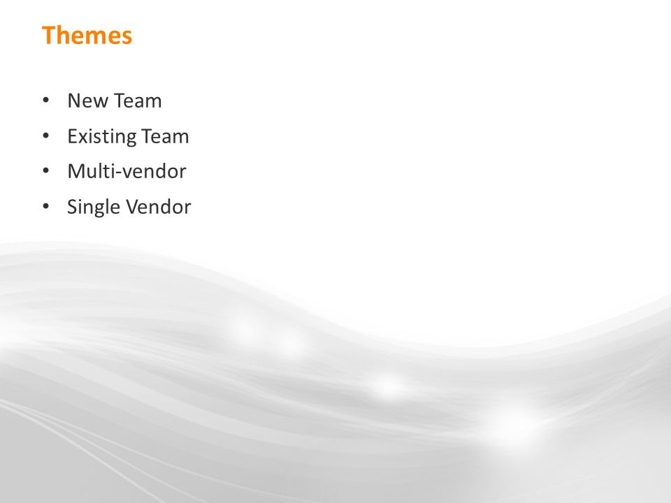 Themes New Team Existing Team Multi-vendor Single Vendor