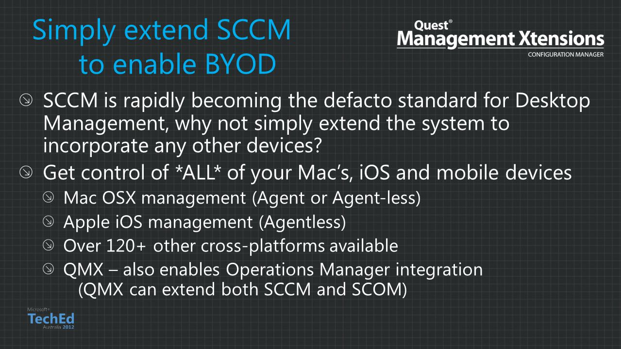 Simply extend SCCM to enable BYOD