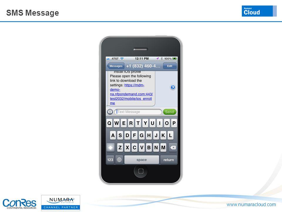 www.numaracloud.com SMS Message