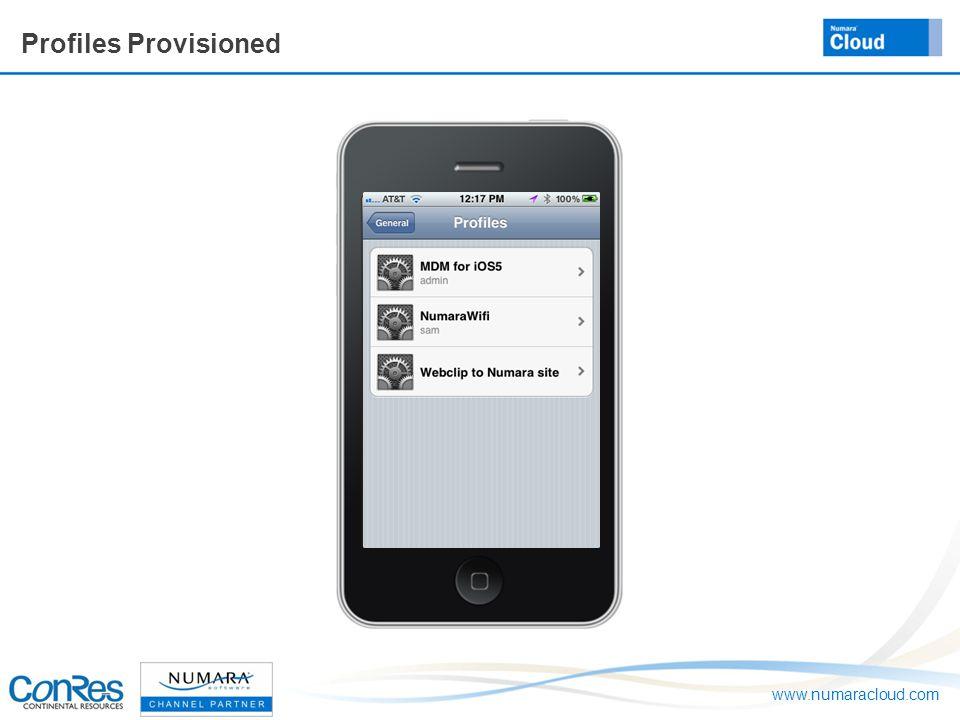 www.numaracloud.com Profiles Provisioned
