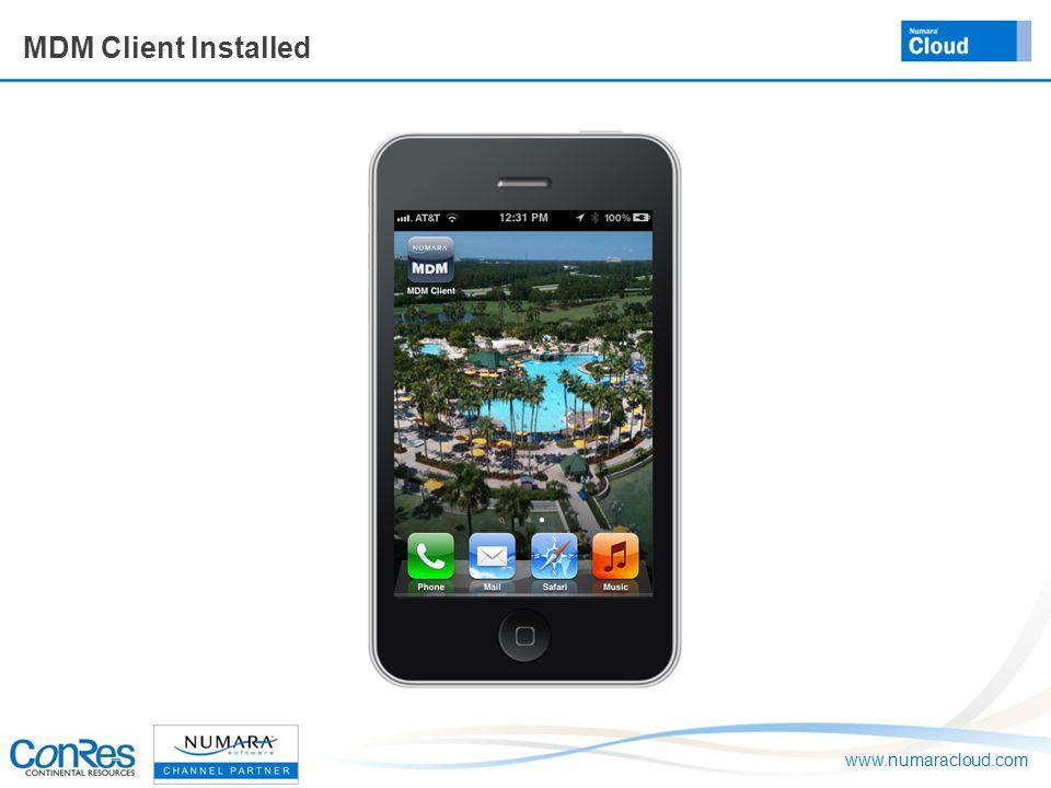 www.numaracloud.com MDM Client Installed