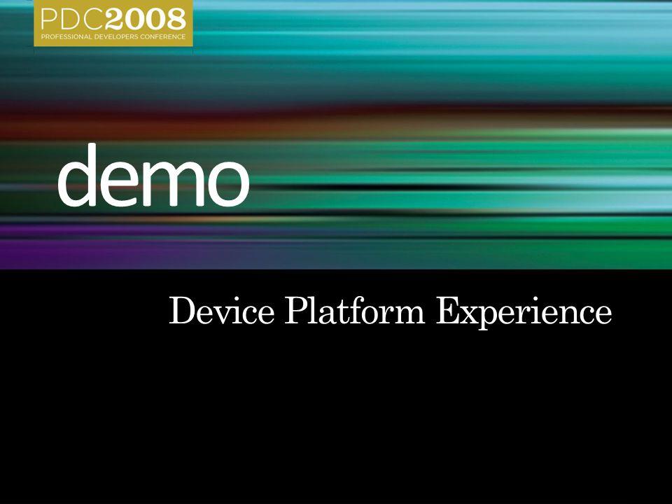 Device paradigm App paradigm Device paradigm