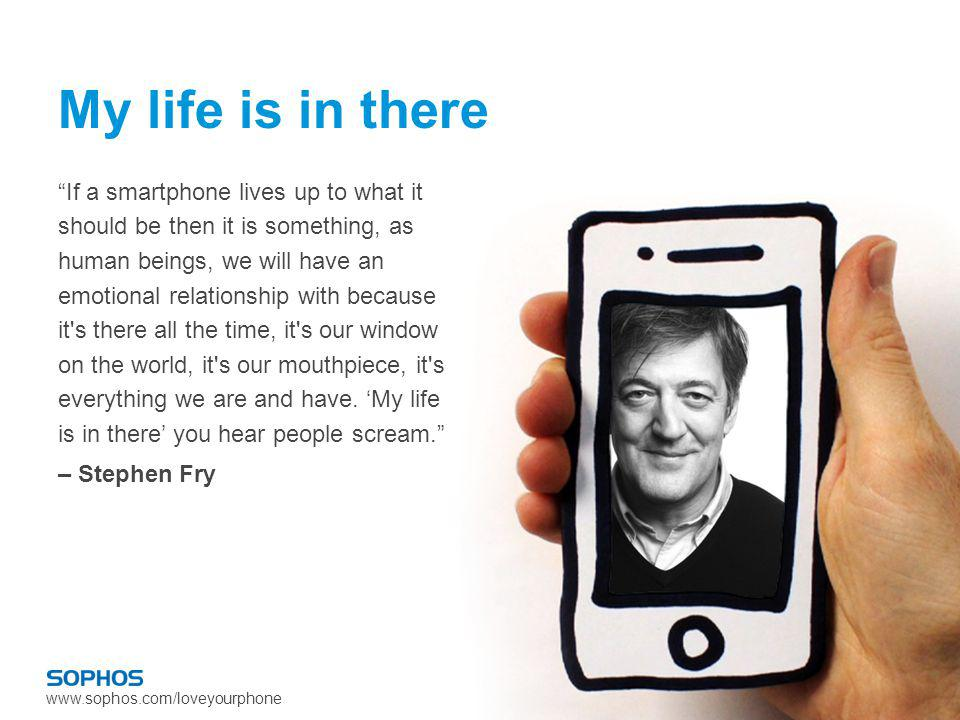www.sophos.com/loveyourphone If a smartphone lives up to what it should be then it is something, as human beings, we will have an emotional relationsh