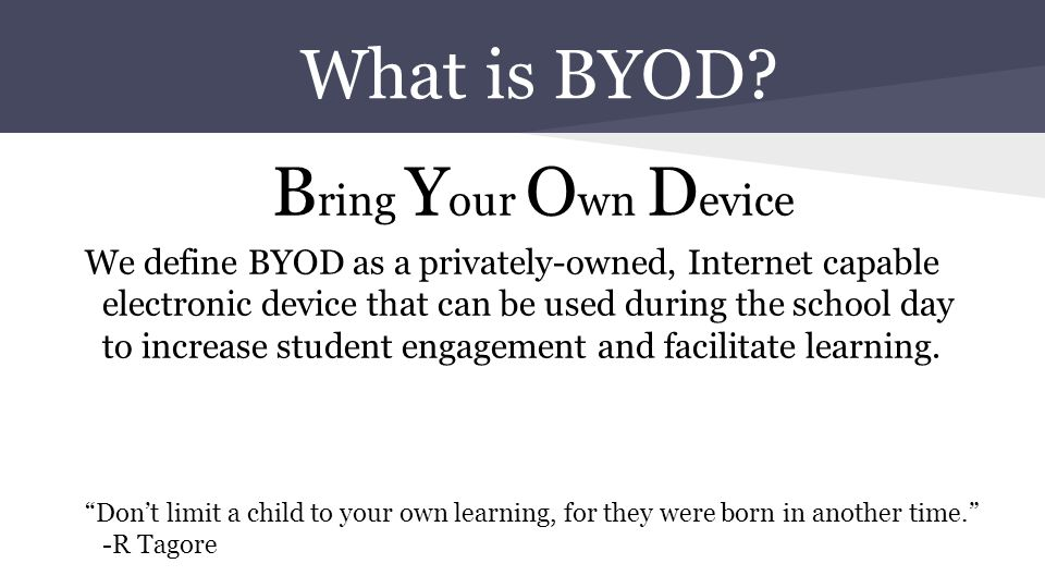 Myths about BYOD 1: BYOD deepens the digital divide.