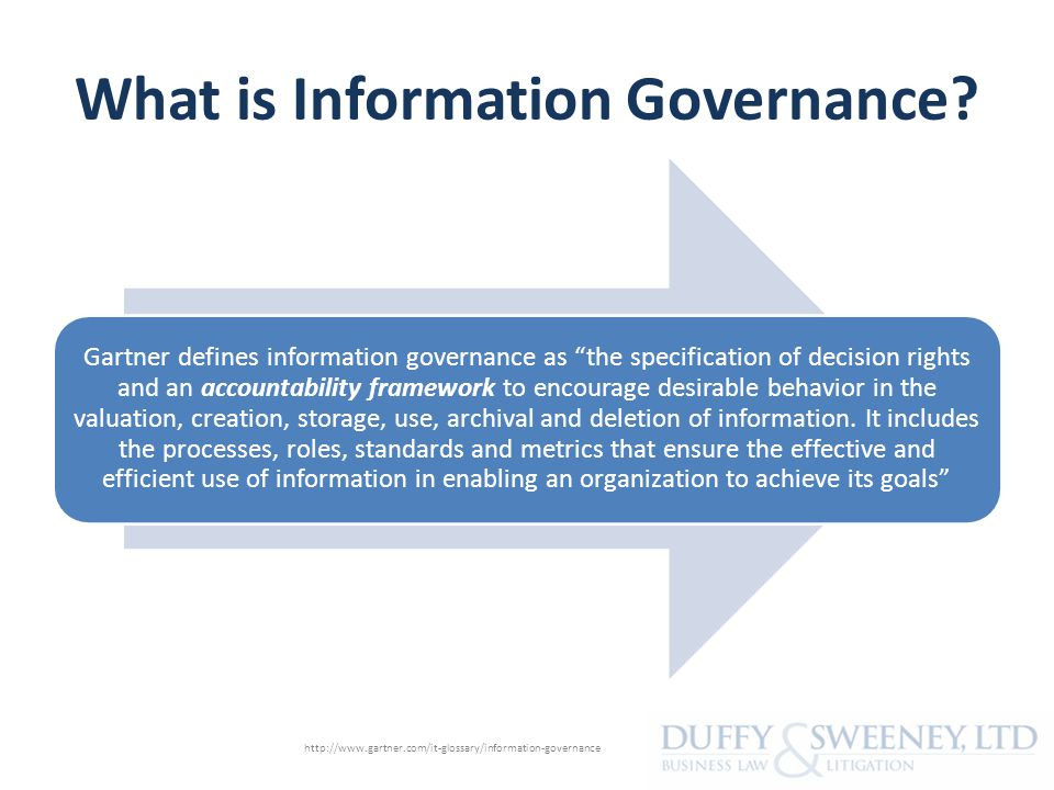 What is Information Governance.