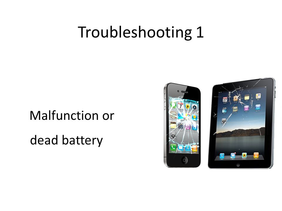 Troubleshooting 1 Malfunction or dead battery