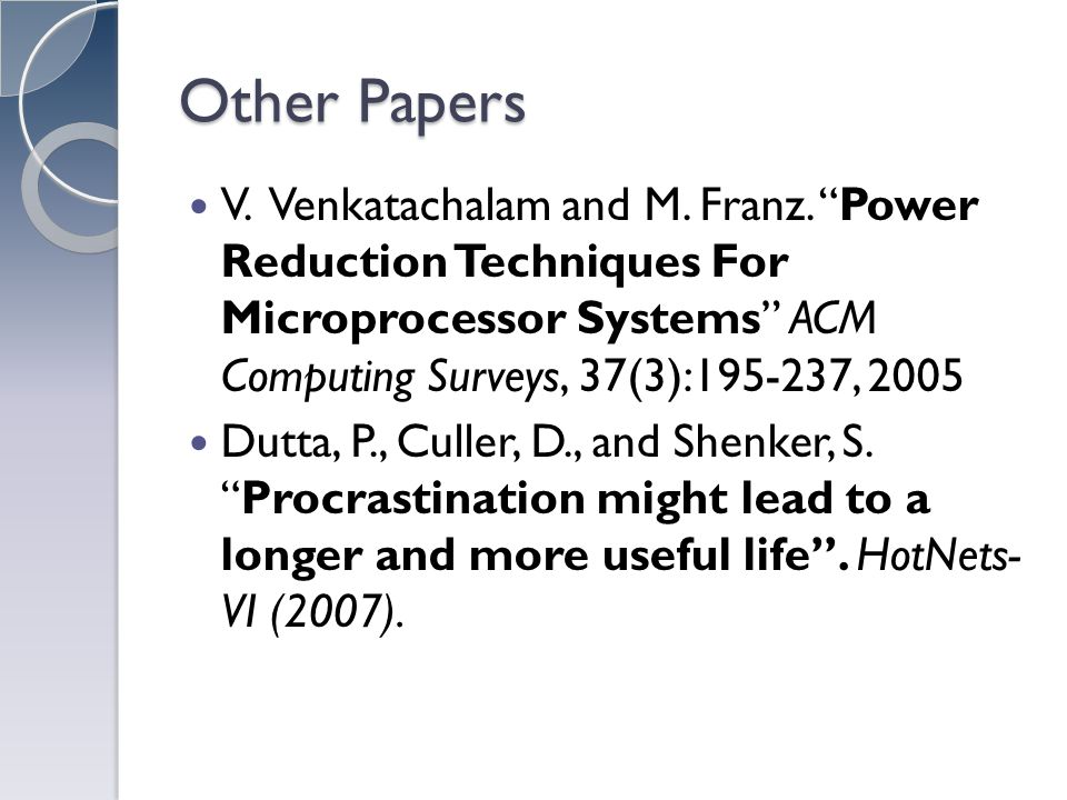 Other Papers V. Venkatachalam and M. Franz.